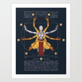 Vitruvian Omnic - color version Art Print