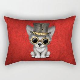 Steampunk Baby Wolf Cub Rectangular Pillow