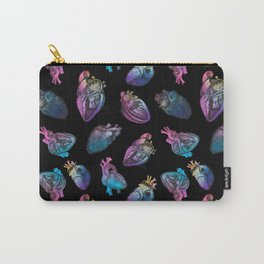 Colourful Anatomical Hearts Print Carry-All Pouch