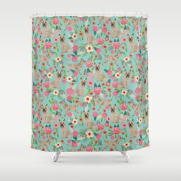 Cairn Terrier florals dog pattern cute dog breed custom gifts for dog lovers Shower Curtain