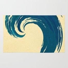 - blue 'davy jones' wave - Rug