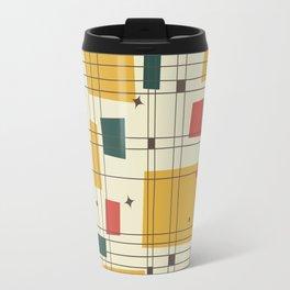 Mid-Century Modern (gold) Travel Mug