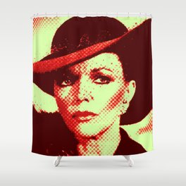 Alexis Pop Two Tone Shower Curtain
