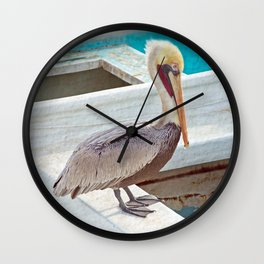PELICAN POSE Wall Clock
