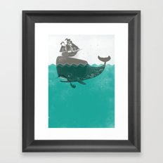 Belly of the Whale - Hipster Edition (with pirates) Framed Art Print