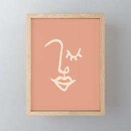 FACE003 - Peachy Framed Mini Art Print