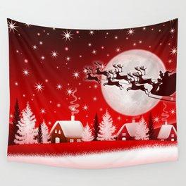 Holiday Christmas Christmas Lights Christmas Ornam Wall Tapestry
