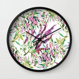 Summer blossom paint Wall Clock