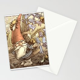 Gnome & Bees Stationery Cards