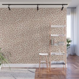 Sherwin Williams Cavern Clay SW 7701 Abstract Multi Sized Triangle Shape Pattern on Creamy Off White Wall Mural