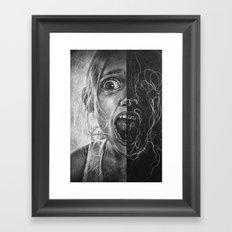 Girl Scream Framed Art Print