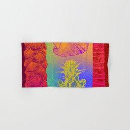 Yellow Cactus Tree Trunks Hand & Bath Towel