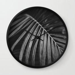 Jungle palm leaf Wall Clock