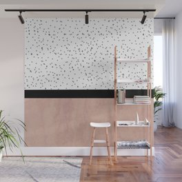Pink marble and dots Wall Mural