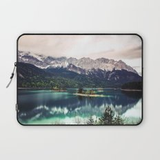 Green Blue Lake and Mountains - Eibsee, Germany Laptop Sleeve