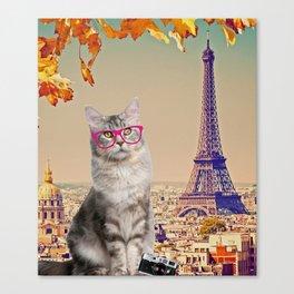 Louie in Paris Canvas Print