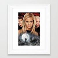 buffy the vampire slayer Framed Art Prints featuring Buffy The Vampire Slayer  by SB Art Productions