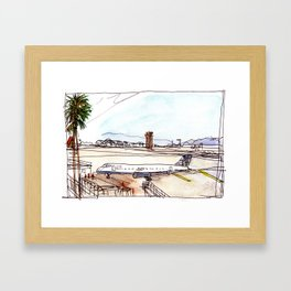 Landing in California Framed Art Print
