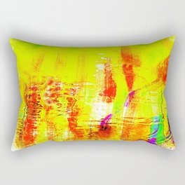 Yellow fire Rectangular Pillow