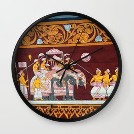Celebration in Kandy Wall Clock