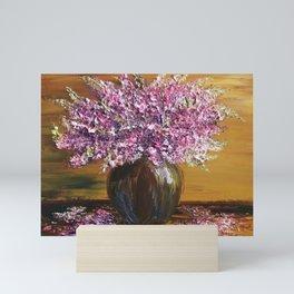 Colorful Flowers Palette Knife Painting, Floral Painting, Modern Painting, Abstract Flowers, Vintage Mini Art Print