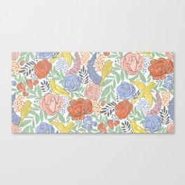 Bird Floral Canvas Print