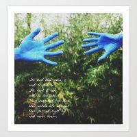 blue skin Art Print