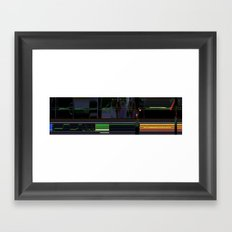 deep space sequencing Framed Art Print