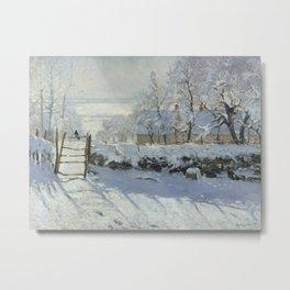 Monet, The Magpie (La Pie) (Die Elster) 1868-1869 Metal Print