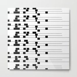 ASCII All Over 06051312 Metal Print