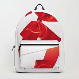 Card with red bow Backpack
