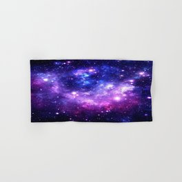 Purple Blue Galaxy Nebula Hand & Bath Towel