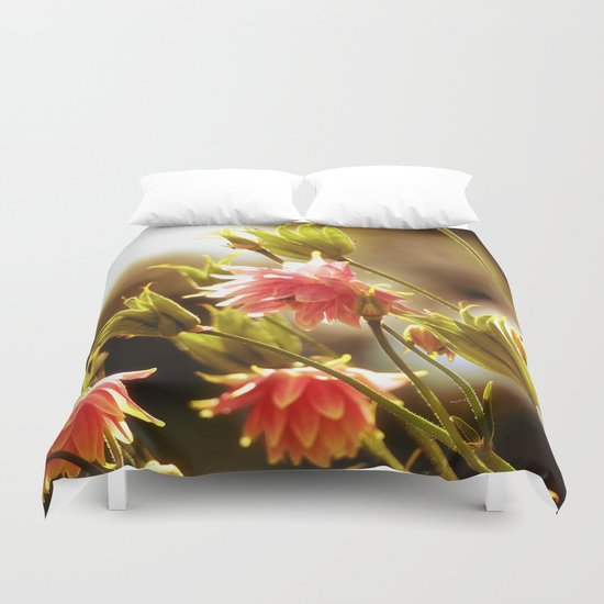 Wild beauty, flowers in the meadows Duvet Cover
