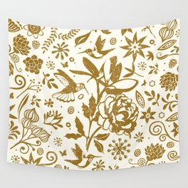 Oh, beautiful garden of mine Wall Tapestry