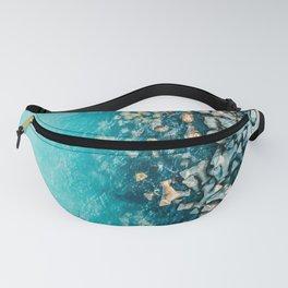 Abstract Turquoise Ocean, Aerial Blue Sea Print, Large Ocean Poster, Coastal Wall Art, Beach Decor Fanny Pack