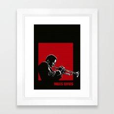 MILES / DAVIS [A Kind of Red][by felixx / 2016] Framed Art Print