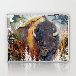 Watercolor Mixed Media Buffalo Laptop & iPad Skin