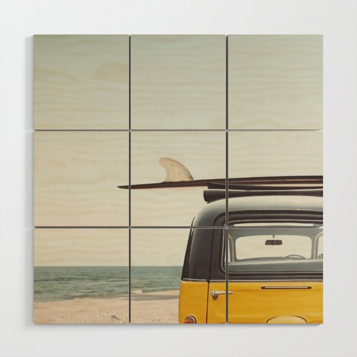 Surfing time Wood Wall Art