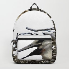 Storks and Fledglings Vector Backpack