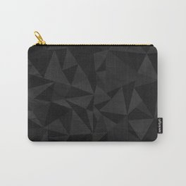 Dirty Dark Geo Carry-All Pouch