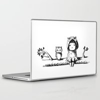 owls Laptop & iPad Skins featuring Owls by Freeminds