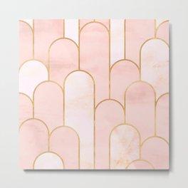 Arch Deco Pink Metal Print