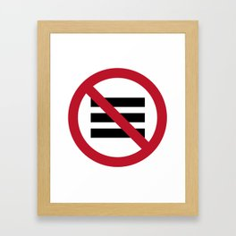 No Hamburger bar Framed Art Print