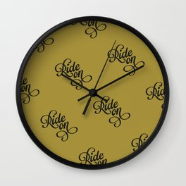 Ride On – Gold/Black Wall Clock