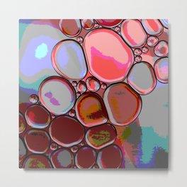Pink Pebbles Metal Print