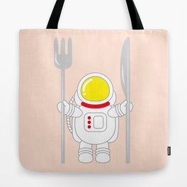 Space Odyssey | Astronaut Eats | Space Utensils | Galaxy Fork and Knife | pulps of wood Tote Bag