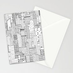 City Doodle (white) Stationery Cards