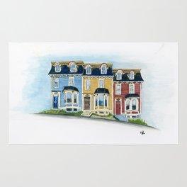 Jellybean Row - Newfoundland houses, buildings Rug