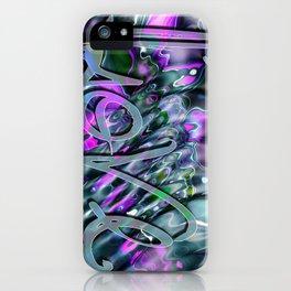 Liquid Love by Artist McKenzie iPhone Case