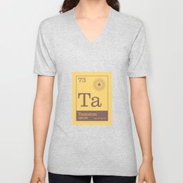 Periodic Elements - 73 Tantalum (Ta) Unisex V-Neck